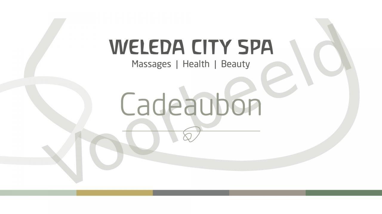 Cadeaubon Weleda City Spa Voorbeeld