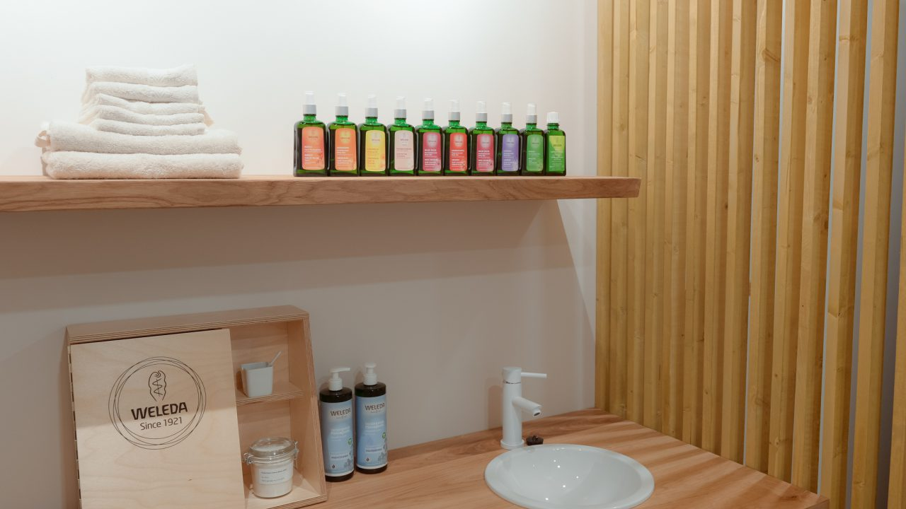 Massageruimte Weleda City Spa Den Haag