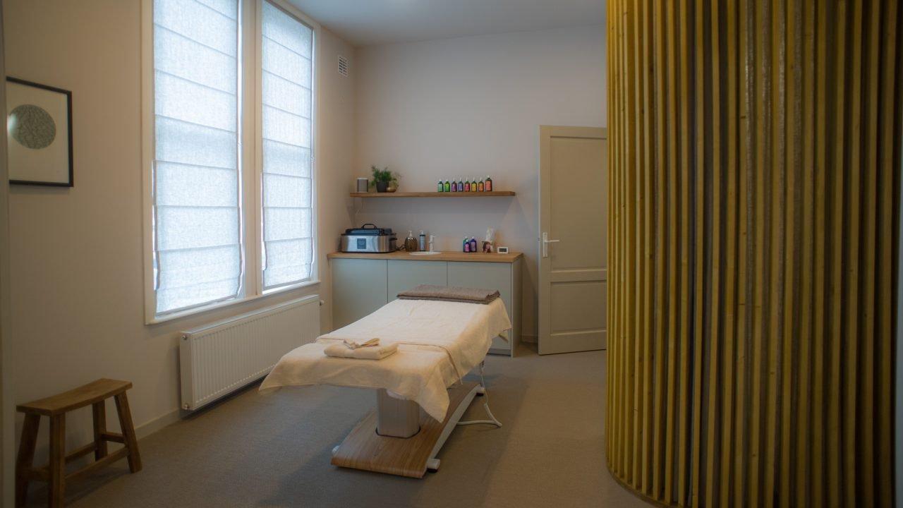 Behandelruimte voor massage Weleda City Spa Den Haag