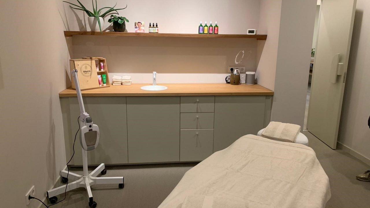 Behandelruimte Weleda City Spa massage en schoonheidssalon, Rotterdam Hillegersberg